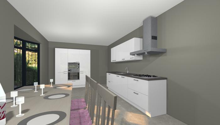 parallel keuken perspectief